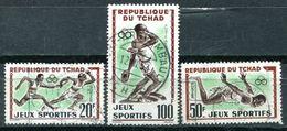 TCHAD - Y&T 80, 81 Et PA8 (Série Complète)(Sports ) - Tsjaad (1960-...)