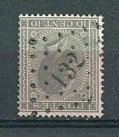 17 Gestempeld PT 132 FONTAINE-L'EVÊQUE - COBA 2,00 - 1865-1866 Linksprofil