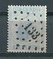 18 Gestempeld PT 133 FOSSES - COBA 6,00 - 1865-1866 Profilo Sinistro