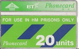 CARTE+GB-HOLOGRAPHIQUE-PRISONS-20U-V° N°402F13568a L Envers-TBE - Ver. Königreich