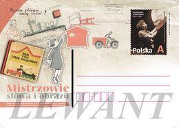 POLAND Postcard 2018.02.28. Cp 1802 Franciszka Themerson -Telegraph, Mailbox, Train, Motorcycle - Enteros Postales