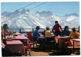 Le Corbier - Panorama Sur Les Auguilles D'Arves Depuis La Terasse Du Restaurant - France
