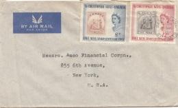 ST.CHRISTOPHER-NEVIS-ANGUILLA 1961 - 2 Sondermarken Auf LP-Brief - Briefmarken