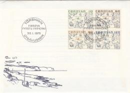 FOROYAR 1975 - 4 Fach Frankierung Auf FDC Brief - Dänemark