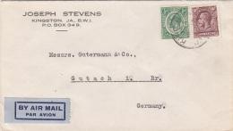 JAMAIKA 19?? - 2 Fach Frankierung Auf LP-Brief Gel.v. Kingston N. Gutach I.Br., Germany - Jamaica (1962-...)