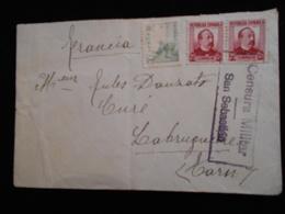 Enveloppe 1937 Espagne - Censura Militar San Sebastian -- Lettre CL18 - Marcas De Censura Nacional