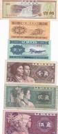 LOTTO 6  BANCONOTE CINA 0.10,1.2,5 JIAO 1980 - Chine