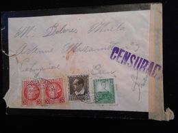 Enveloppe 1937 Espagne - Censuraca -- Lettre CL18 - Marcas De Censura Nacional