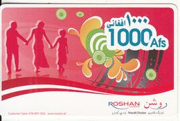 AFGHANISTAN - Roshan Prepaid Card 1000 Afs, Used - Afghanistan