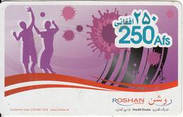 AFGHANISTAN - Roshan Prepaid Card 250 Afs, Used - Afghanistan