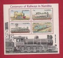 NAMIBIA, 1995, Mint Never Hinged Block Nr. 21  Railway Centenary ((print November) # 6915 - Namibië (1990- ...)