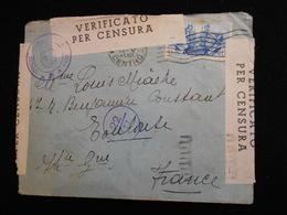 Enveloppe 1941 Italie  - Verifacato  Per Censura -- Lettre CL18 - Marcophilie - EMA (Empreintes Machines)