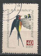 Romania 1959. Scott #C63 (U) Bird, Barn Swallow * - Poste Aérienne