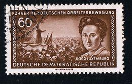 20. Juni 1955, Führer Der Deutschen Arbeiterbewegung, Michel-Nr.: 478 Mit Seltenem Wasserzeichen X I, Gestempelt - Gebraucht
