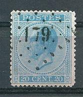 18 Gestempeld PT 179 HERVE - COBA 3,00 - 1865-1866 Profilo Sinistro