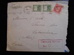 Enveloppe 1937 Espagne Censura Militar San Sebastian   Lettre  CL18 - Marcas De Censura Nacional