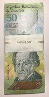 RJ) VENEZUELA BANK NOTE 50 BOLIVARES 100 PCS UNC ND 2012 - Venezuela