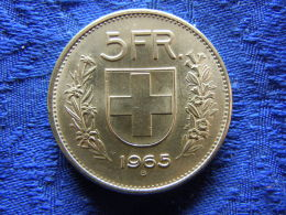 SWIZERLAND 5 FRANCS 1965, KM40 - Suisse