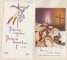 8AK92 Image Pieuse Religieuse COMMUNION FRANCOISE ROUSSEL ST SERVAN Lot De 2 - Images Religieuses