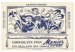 B2 - Buvard Le Petit Poucet Chocolats Fins Menier - Cocoa & Chocolat