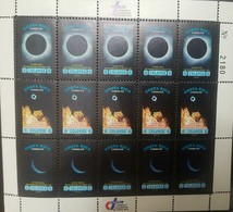 O) 1992 COSTA RICA, INTERNATIONAL YEAR OF SPACE-SOLAR ECLIPSE-TOTAL ECLIPSE-POST OFFICE BIDG DURING ECLIPSE-PARTIAL ECLI - Costa Rica