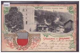 LAUSANNE - FUNICULAIRE DE SAUVABELIN - CARTE EN RELIEF - PRÄGE KARTE - B ( MINI PLI D'ANGLE ) - VD Vaud