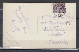 Postkaart Van Blanmont Naar Bruxelles - 1915-1920 Albert I.