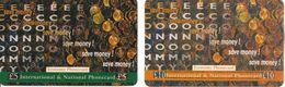 2-CARTES+PREPAYEES-GB-5£/10£-ECONOMY PHONECARD-PIECES De MONNAIE- TBE- - Royaume-Uni