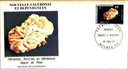 88588) NUOVA CALEDONIA FDC.CON 59F.ROCCE E MINERALI. - 15/6/1983 - Minerali