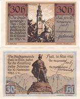 LOTTO 2 NOTGELD AUSTRIA (AUSTRO-UNGARIA) 30 HELLER 1920 UNC - Austria