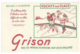 B5 - Buvard Hockey Sur Glace Grison Produits D'entretien Chaussures - Sports