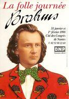 Thème Musique *  Brahms   ( Scan Recto Et Verso) - Advertising