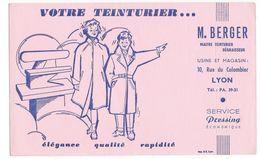 B6 - Buvard Votre Teinturier Berger Lyon Couple - Textile & Clothing