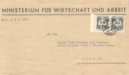 MiNr.D 4 (MeF)  ZD Auf Brief Böhmen & Mähren Dienstpost - Böhmen Und Mähren