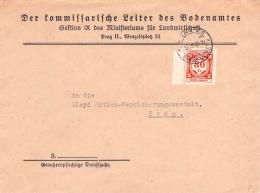 MiNr.D 5 Auf Brief Böhmen & Mähren Dienstpost - Böhmen Und Mähren