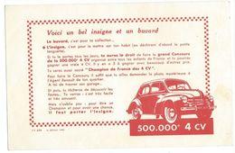 B7 - Buvard Bel Insigne Renault 4 CV Voiture - Automobile