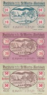 LOTTO  NOTGELD AUSTRIA (AUSTRO-UNGARIA) -10,20,50 HELLER 1920- UNC - Austria