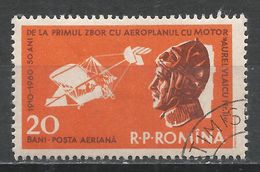 Romania 1960. Scott #C80 (U) Plane And Aurel Vlaicu * - Poste Aérienne