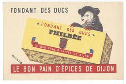 B9 - Buvard Fondant Des Ducs Philbée Le Bon Pain D'épices Dijon Ours - Pain D'épices