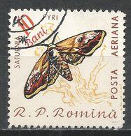 Romania 1960. Scott #C89 (U) Saturnia Pyri, Moth, Butterfly * - Poste Aérienne