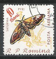 Romania 1960. Scott #C89 (U) Saturnia Pyri, Moth, Insect - Poste Aérienne