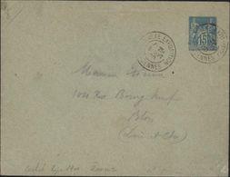 Exposition Temporaire 1900 Annexe Exposition Vincennes 7.25 9 Sept 00 Entier Sage 15 Ct Bleu I16 170 Euros - Postmark Collection (Covers)