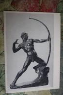 "Old Postcard Zsigmond Kisfaludi Strobl ""ARCHER""  - USSR  - ARCHERY CHAMPION -  1958 - Tir à L'Arc"