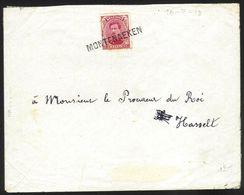 Belgique - Obl.fortune 1919 - Obl. Linéaire MONTENAKEN - Marcophilie