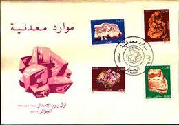 88591) ALGERIA FDC.CON SERIE COMPLETA .ROCCE E MINERALI. - 21/4/1983 N.781-84 - Minerali