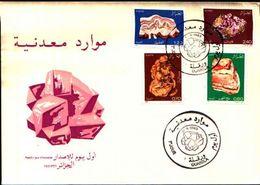 88593) ALGERIA FDC.CON SERIE COMPLETA .ROCCE E MINERALI. - 21/4/1983 N.781-84 - Minerali