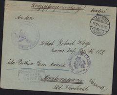 Guerre 14 Lettre FM CAD Leussdorf  Censure Korps München Cachet Dépot Prisonniers De Guerre Mont De Marsan - Marcophilie (Lettres)