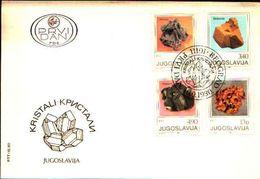 88592) JUGOSLAVIA FDC.CON SERIE COMPLETA .ROCCE E MINERALI. - 10/9/1980 - Minerali