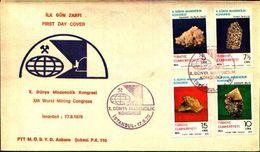 88594) TURCHIA FDC.CON SERIE COMPLETA .ROCCE E MINERALI. - 17/9/1979 - Minerali