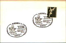88595) Germania Fdc- Con 5 D.ordinaria.-con Bollo Speciale Esposizione Di Minerali E Fossili  A SIEGEN- 12/9/1982 - Minerali